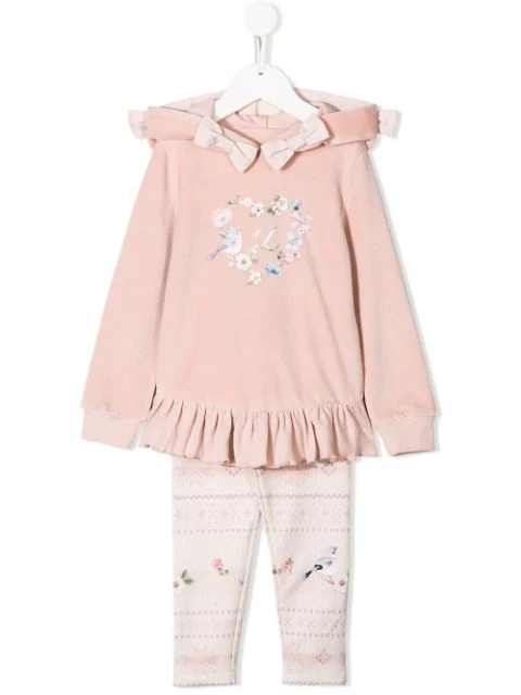 Lapin House Kids' Hooded Tracksuit Set In Pink