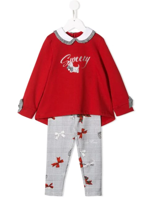 Lapin House Kids' Sweety Tracksuit Set In Red