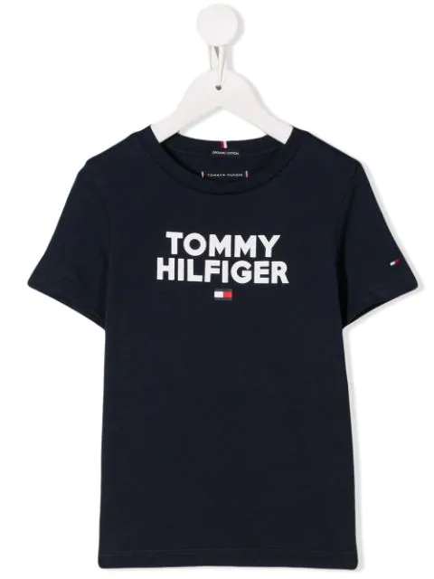Tommy Hilfiger Junior Kids' Logo Print T-shirt In Blue