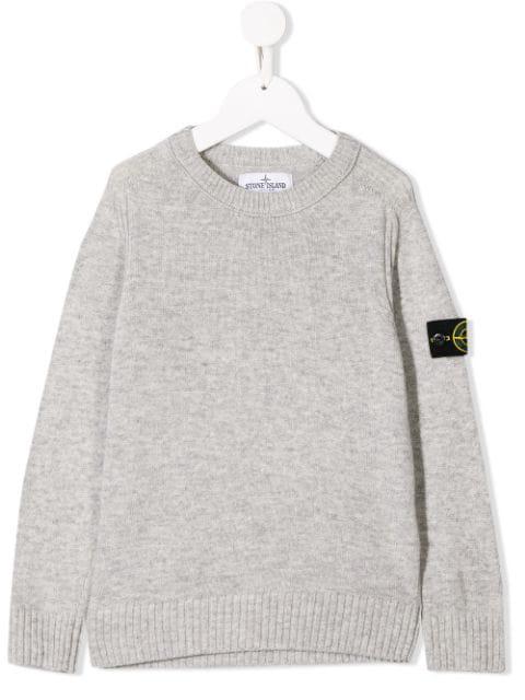 Stone Island Junior Kids' Basic Sweatshirt In Grey