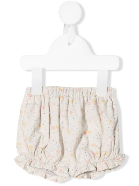 Knot Babies' Flora Bloomer Shorts In White