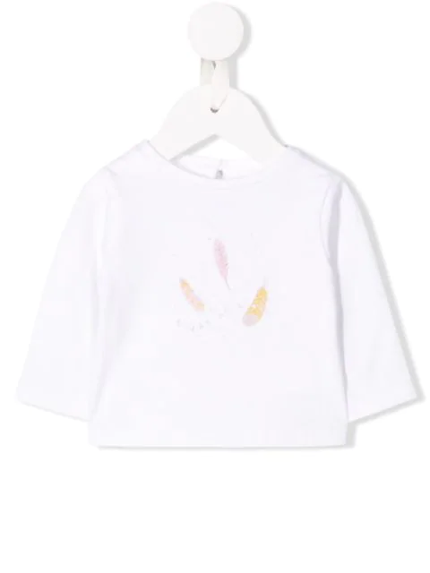 Knot Babies' Willow Long Sleeved Top In White