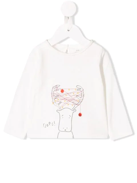 Knot Babies' Clarice Long-sleeve Top In White