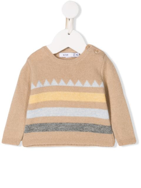 Knot Babies' Theodore Sweater In Neutrals