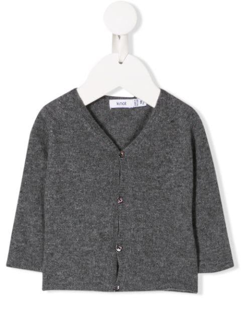 Knot Babies' Francis Cardigan In Grey