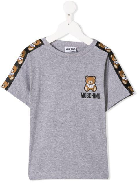 Moschino Kids' T-shirt Mit Teddybär-motiv In Grey