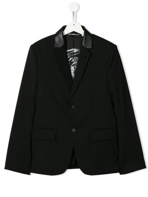 Givenchy Teen Classic Slim-fit Blazer In Black