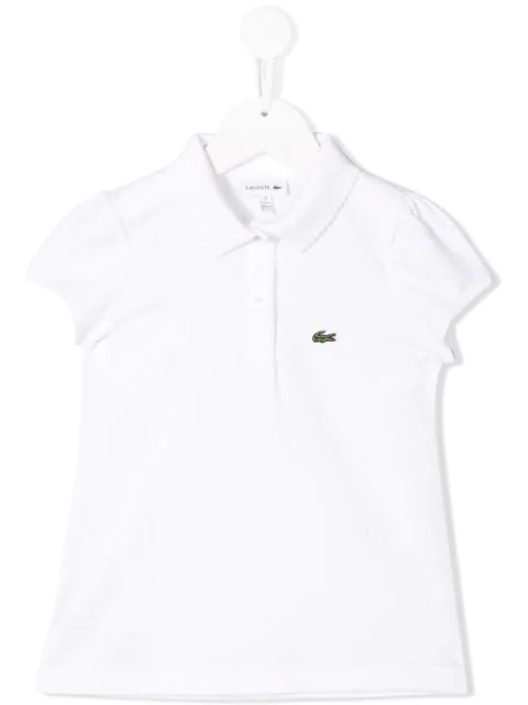 Lacoste Kids' Short Sleeved Polo Shirt In White
