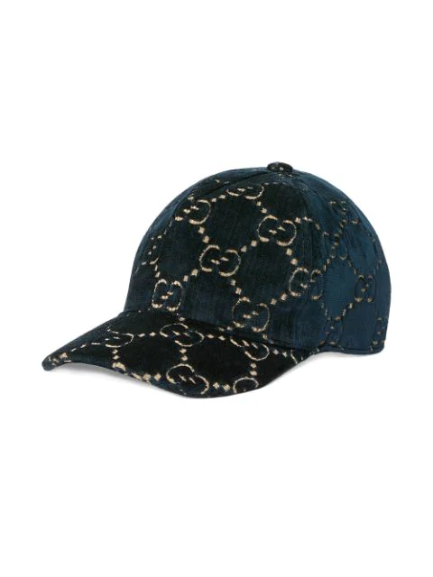 Gucci Kids' Gg Cap In Blue