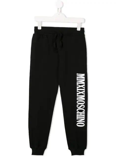 Moschino Kids' Jogginghose Mit Print In Black