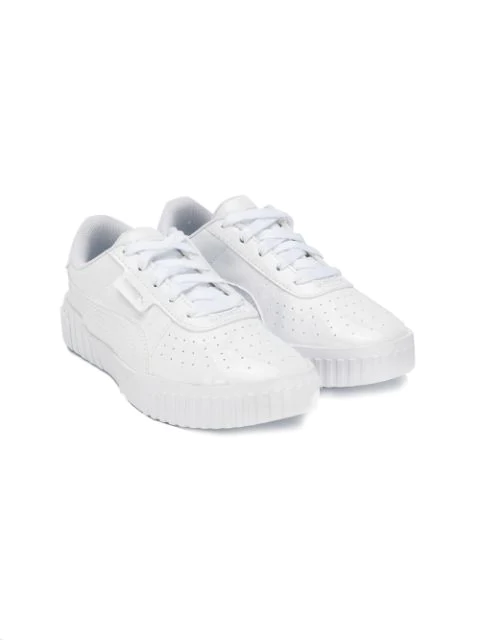 Puma Kids' Lace Up Sneakers In White