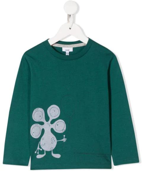Knot Kids' E.t. Print T-shirt In Green