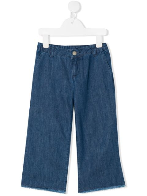 Knot Kids' Clarence Denim Trousers In Blue