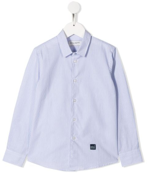 Paolo Pecora Kids' Long Sleeved Shirt In Blue