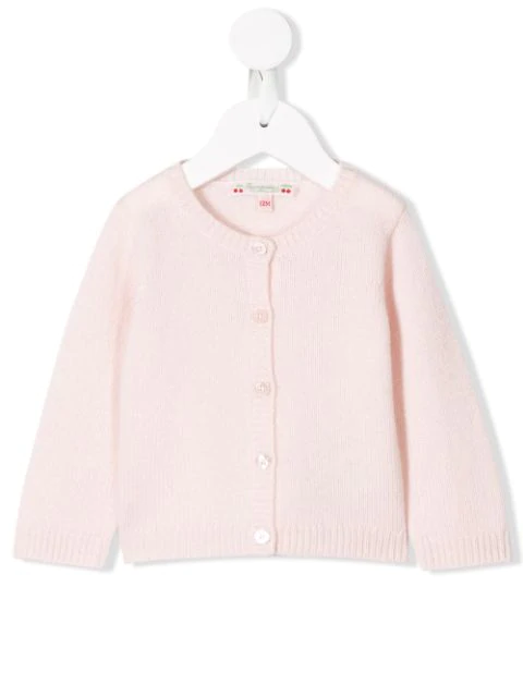 Bonpoint Babies' Button-up Cashmere Cardigan In Pink
