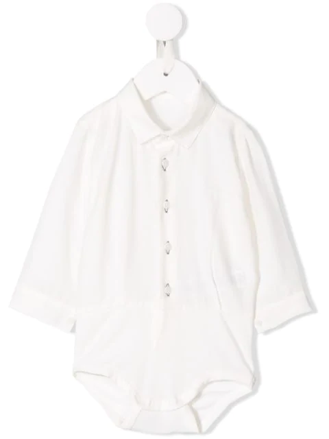Il Gufo Babies' Polo Romper In White