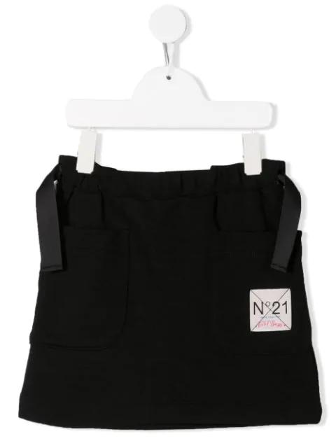 N°21 Teen Patch Pocket Skirt In Black