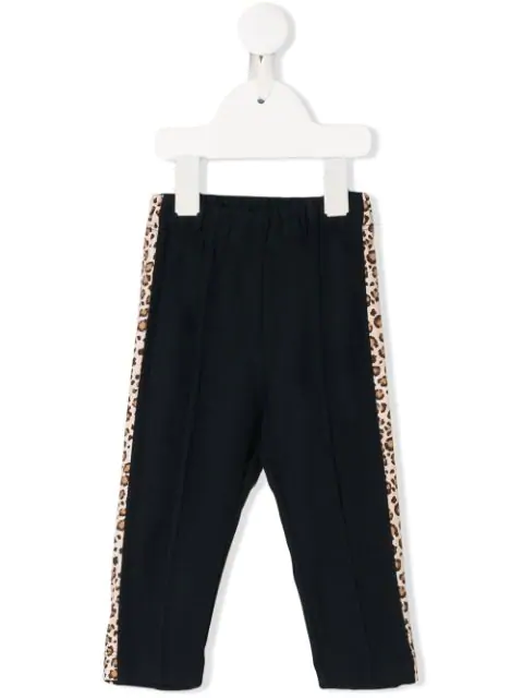 Monnalisa Babies' Stripe Detail Pull-on Trousers In Blue