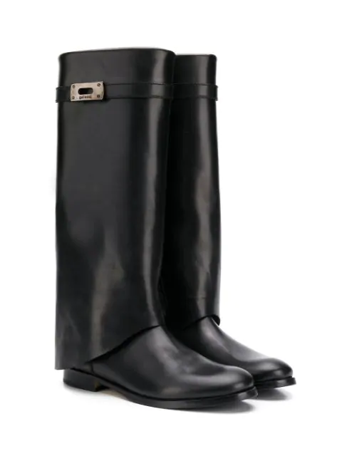 Gallucci Teen Knee Length Boots In Black