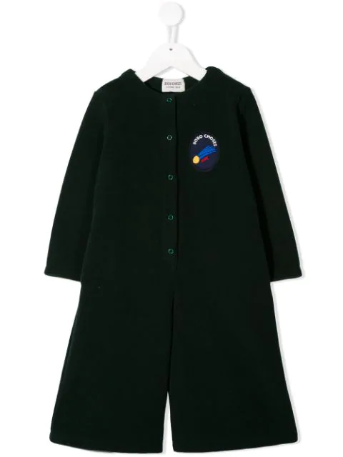Bobo Choses Kids' Logo Patch Playsuit In Green