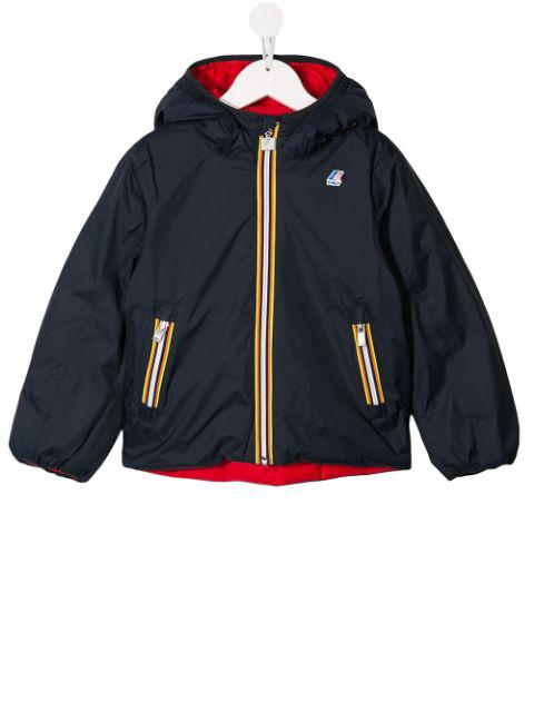 K-way Kids' Reversible Padded Jacket In Blue