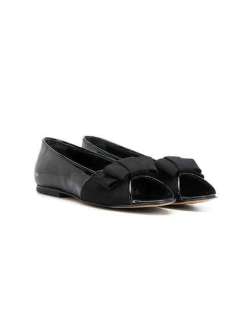 Lanvin Enfant Kids' Open Toe Bow Sandals In Black