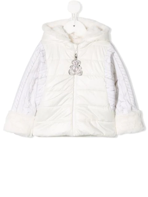 Lapin House Babies' Hooded Padded Jacket In White