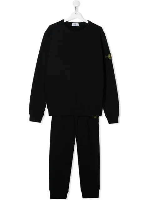 Stone Island Junior Teen Logo Patch Two-piece Tracksuit In Blue