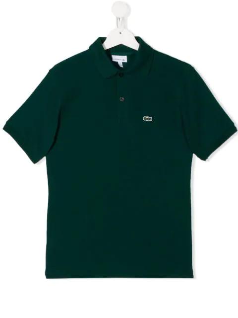 Lacoste Teen Logo Polo Shirt In Green