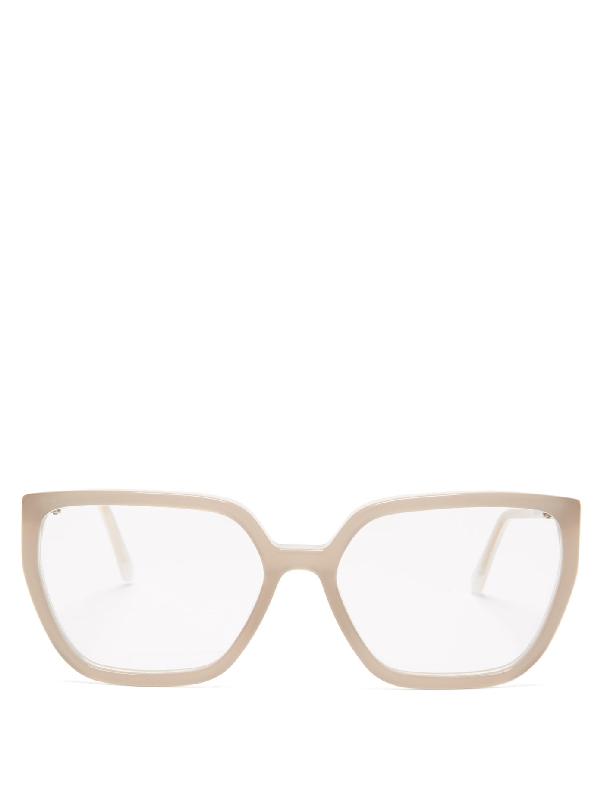 Marni Oversized Square Acetate Glasses In Grey