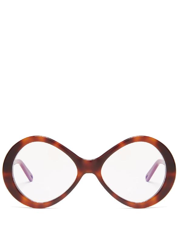 ChloÉ Bonnie Oversized Round Glasses In Tortoiseshell