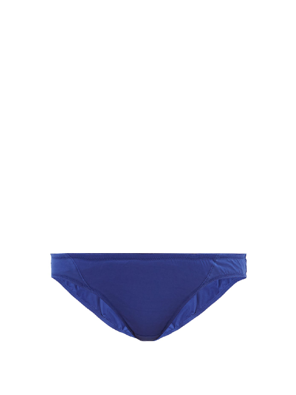 Rossell England Angular Sheer Cotton Briefs In Blue