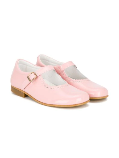 Andanines Shoes Kids' Buckle Strap Ballerinas In Pink