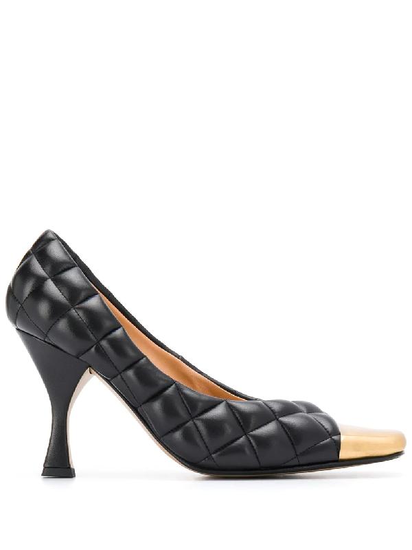 Bottega Veneta Women's Quilted Leather Square Toe Pumps In Black