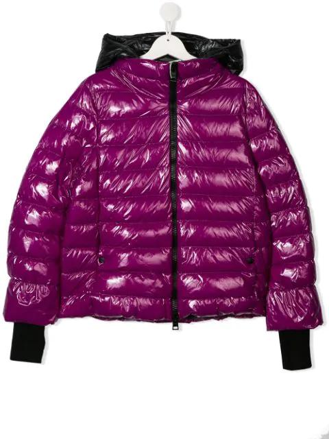 Herno Kids' Purple Down Jacket With Hood