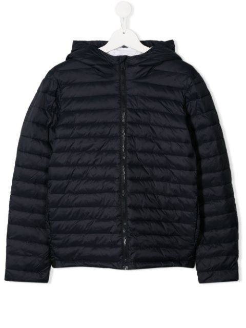 Emporio Armani Kids' Quilted Puffer Jacket In Blue