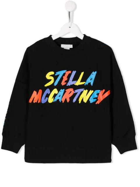 Stella Mccartney Teen Logo-print Sweatshirt In Black
