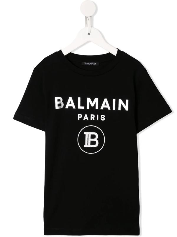 Balmain Kids' Logo Printed Cotton Jersey T-shirt In Black