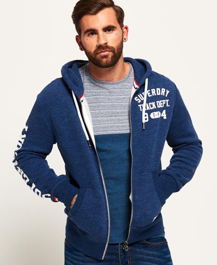Superdry Track & Field Zip Hoodie In Blue