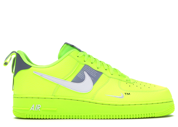 Pre-owned Air Force 1 Utility Volt 2 In Volt/white-black-wolf Grey