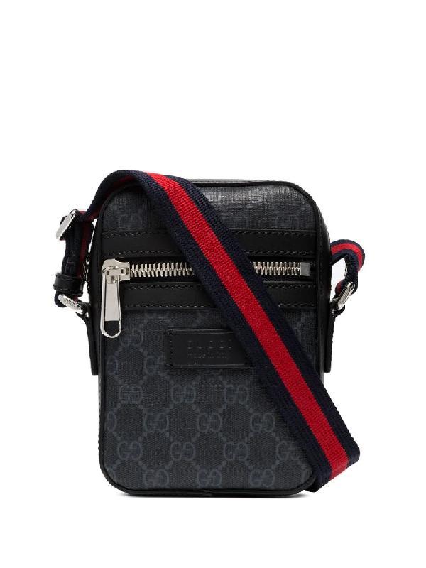 Gucci Black Stripe Shoulder Strap Bag