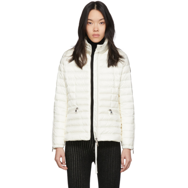 Moncler Safre Quilted Down Jacket In 034 White
