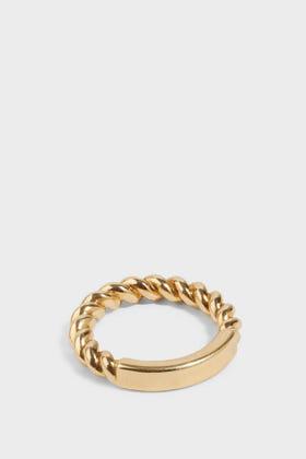 Dina Kamal Torsade Twisted Pinky Ring In Metallic