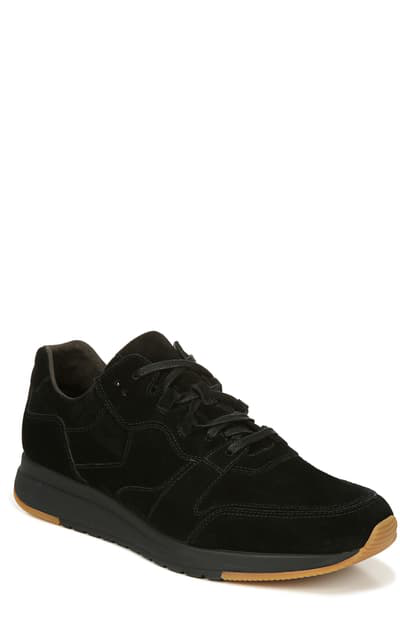 Vince Men's Penley Suede Platform Sneakers In Black