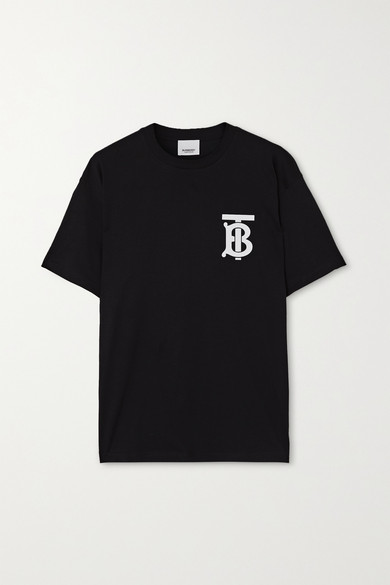 Burberry Emerson Logo-print Cotton-jersey T-shirt In Black