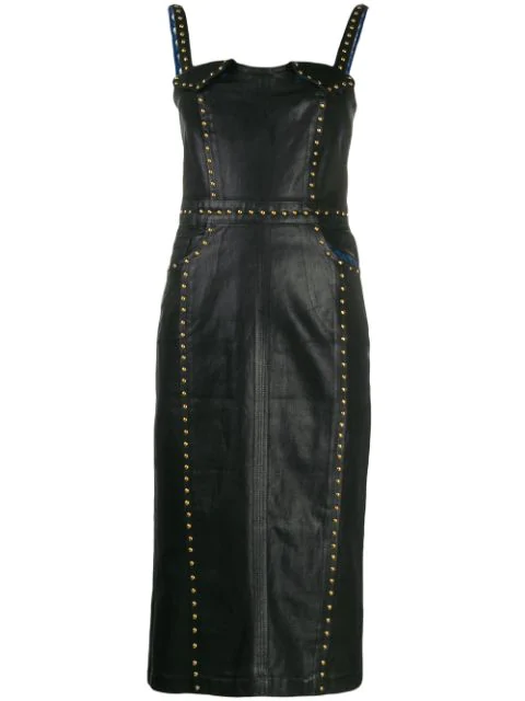 Versace Jeans Couture Donatella Dress In Blue