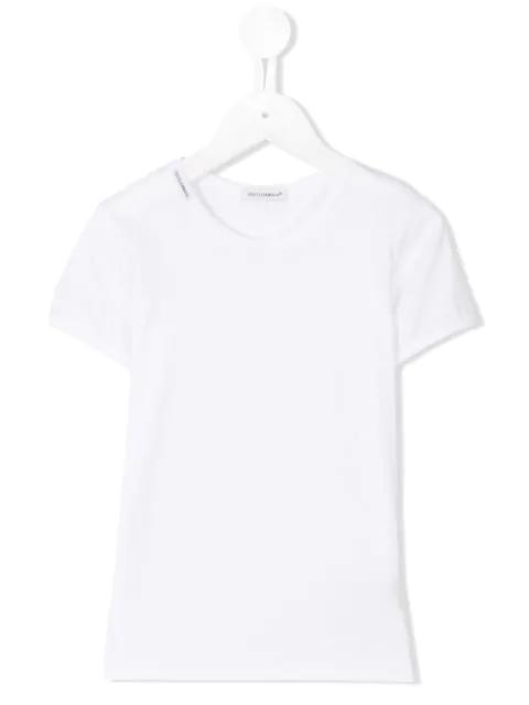 Dolce & Gabbana Kids' Plain T-shirt In White