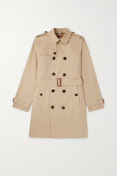 Burberry Teen Double Breasted Trench Coat In Beige