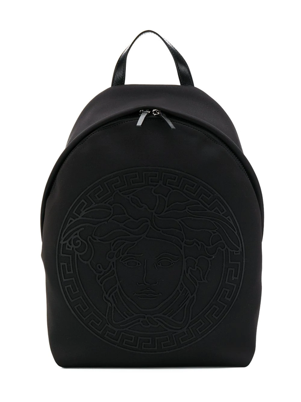 Young Versace Kids' Medusa-appliquéd Backpack In Black
