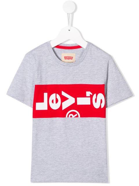Levi's Kids' Logo Print T-shirt In Grey